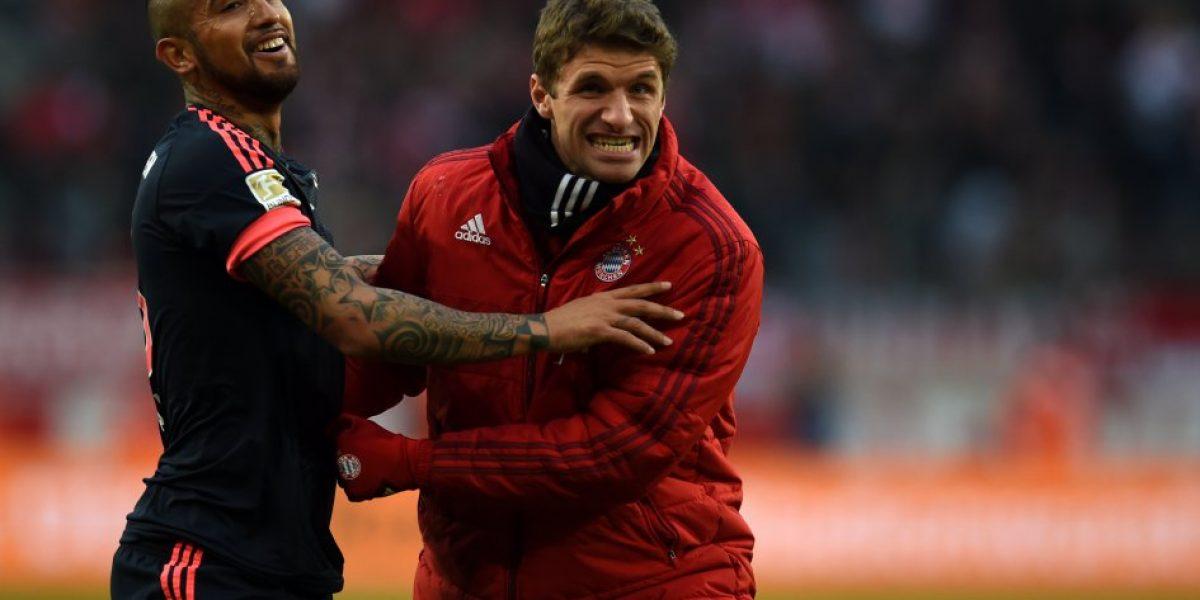 Arturo Vidal vio acción en sufrida victoria del Bayern ante Colonia