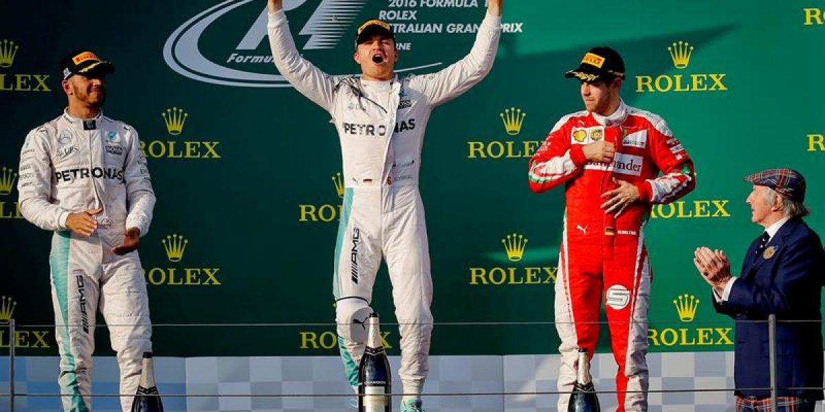 Nico Rosberg primer líder del Mundial de Fórmula Uno al ganar en Australia