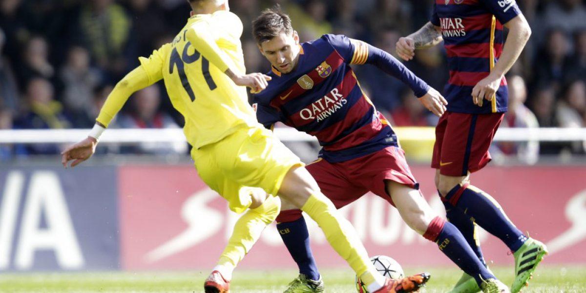 Lionel Messi remató desviado y una aficionada pagó las consecuencias