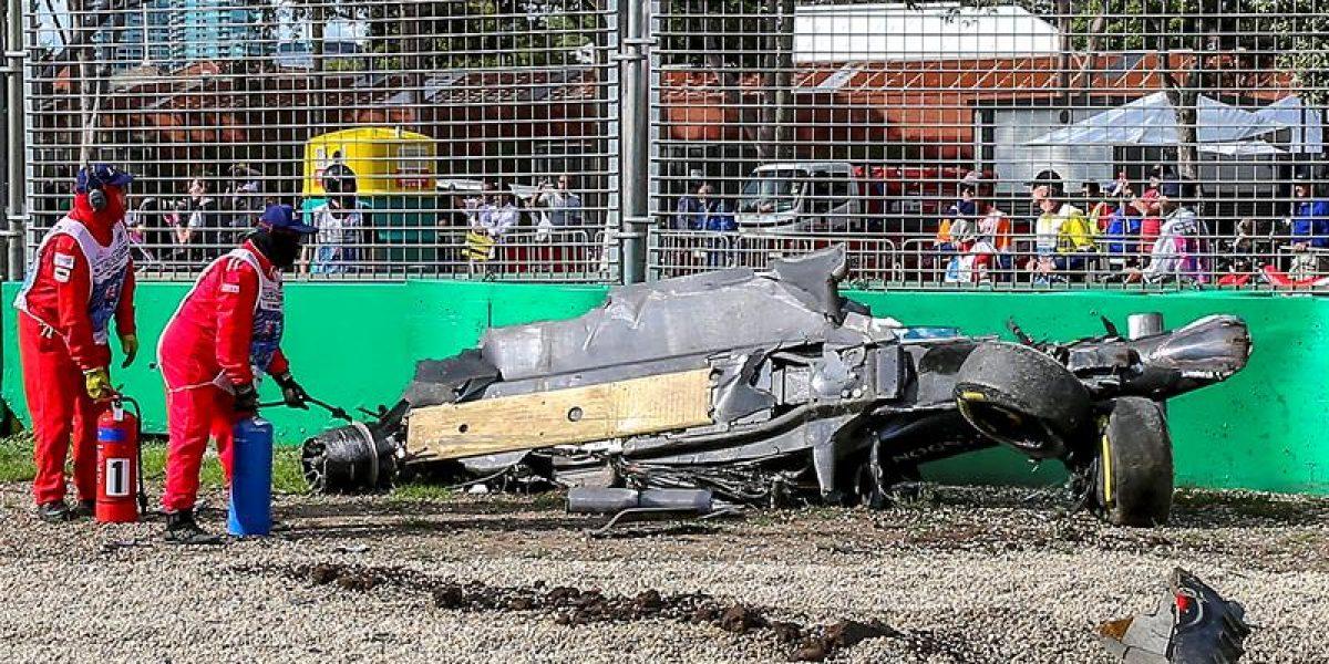 Impresionante accidente de Fernando Alonso marcó el GP de Australia