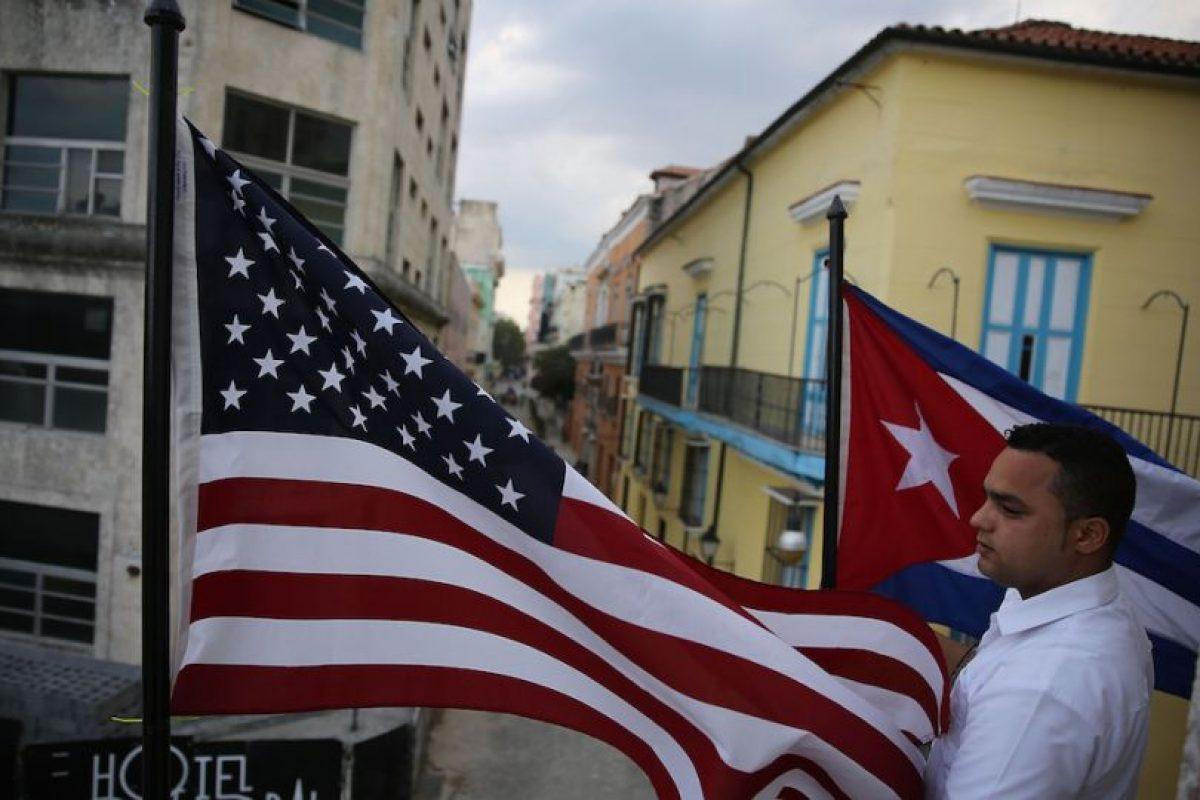 Además de que las banderas de barras y estrellas de ambas naciones ya ondean a lo largo y ancho de La Habana Foto:Getty Images. Imagen Por: