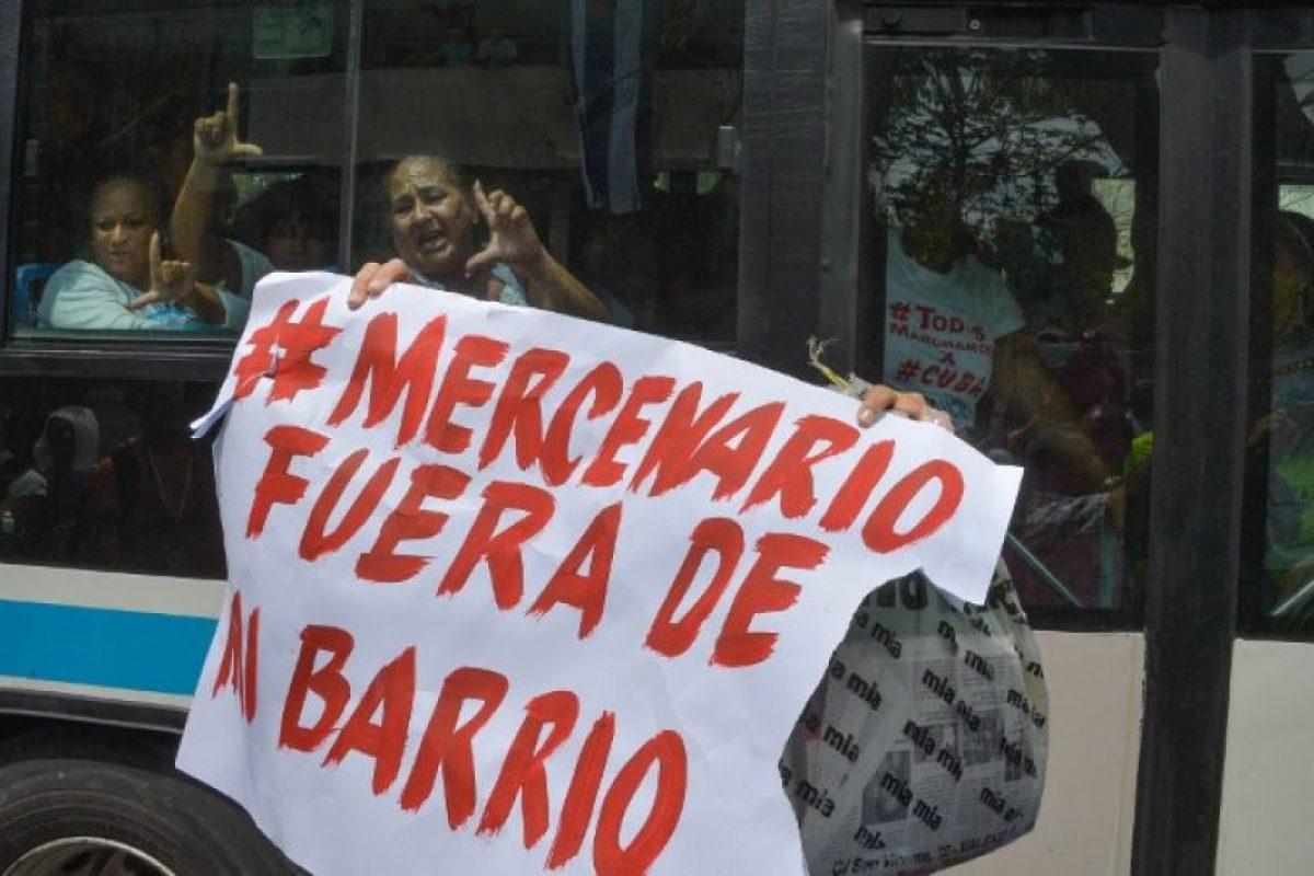 Previo a su llegada, hubo una serie de protestas Foto:AFP. Imagen Por: