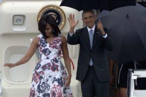 Fue acompañado por su esposa Michelle Obama Foto:AFP. Imagen Por: