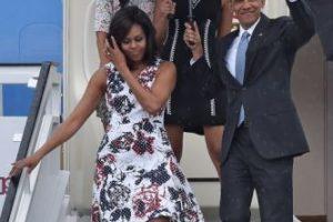 1. Barack Obama y su familia llegaron a Cuba en el Air Force One, que aterrizó a las 16:19 hora local Foto:AFP. Imagen Por: