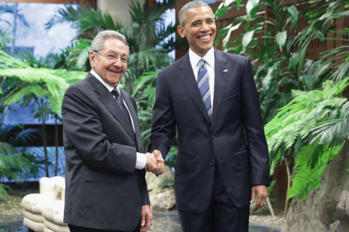 Poco después se reunió con el presidente cubano Raúl Castro. Foto:Getty Images. Imagen Por: