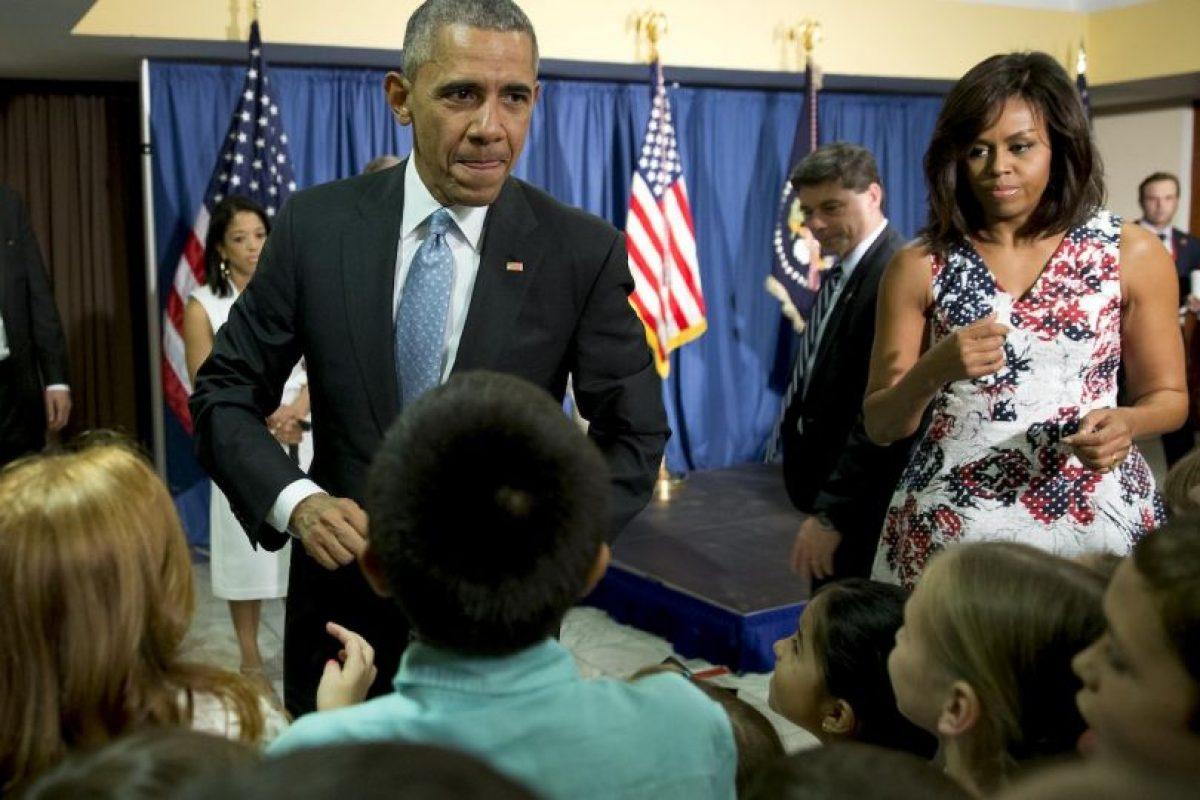 9. En la embajada de Estados Unidos en Cuba, conocieron a los hijos de los trabajadores, con quienes intercambiaron unas palabras Foto:AP. Imagen Por: