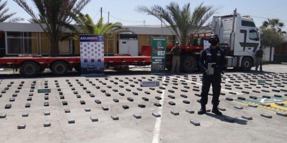 Su destino era Iquique: detectan camión que transportaba más de 300 kilos de droga