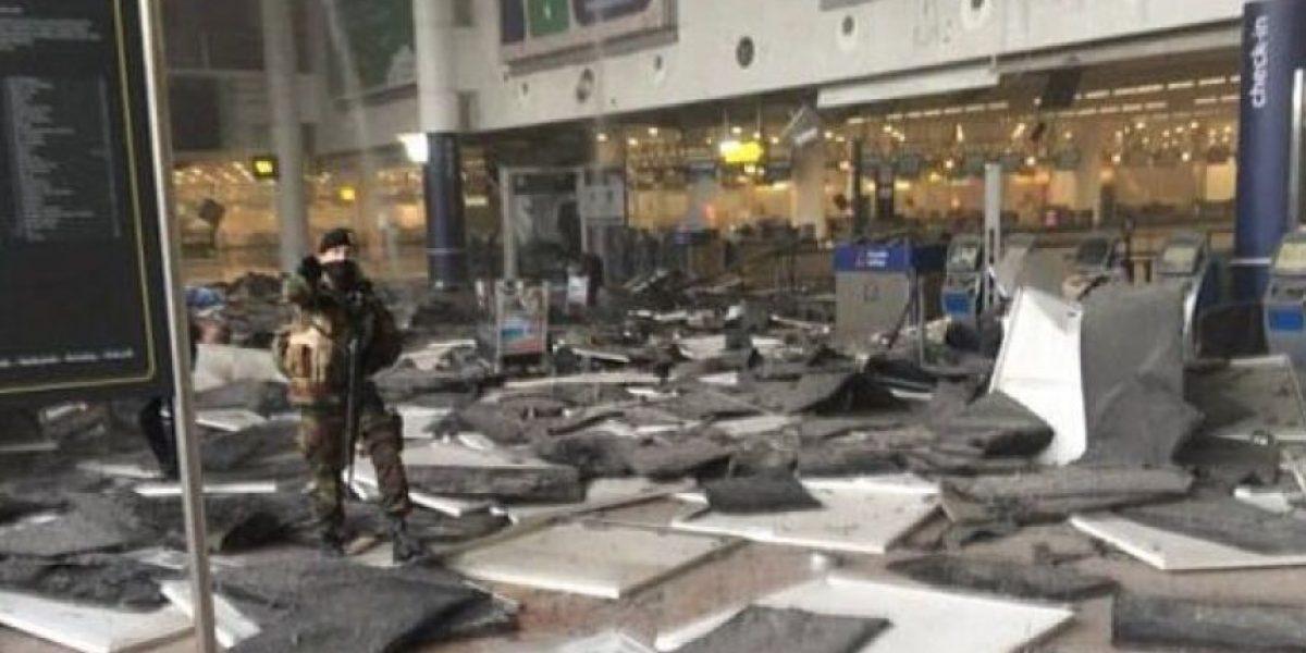 Así quedó el aeropuerto de Bruselas tras ataques terroristas