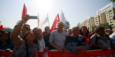 Paro de la CUT: avanzan las cuatro marchas simultáneas por Santiago