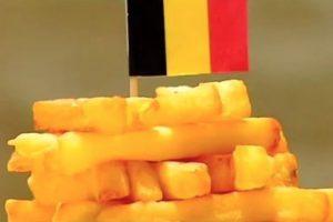 Estas son las imágenes de papas fritas para mostrar apoyo a Bélgica. Foto:Vía Twitter/Romain R ♯₃₀₀. Imagen Por: