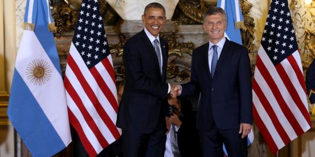 Obama llega a la sede del Gobierno de Argentina para reunirse con Macri