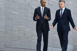 El presidente Macri y Obama recorrieron el Parque de la Memoria Foto:AFP. Imagen Por: