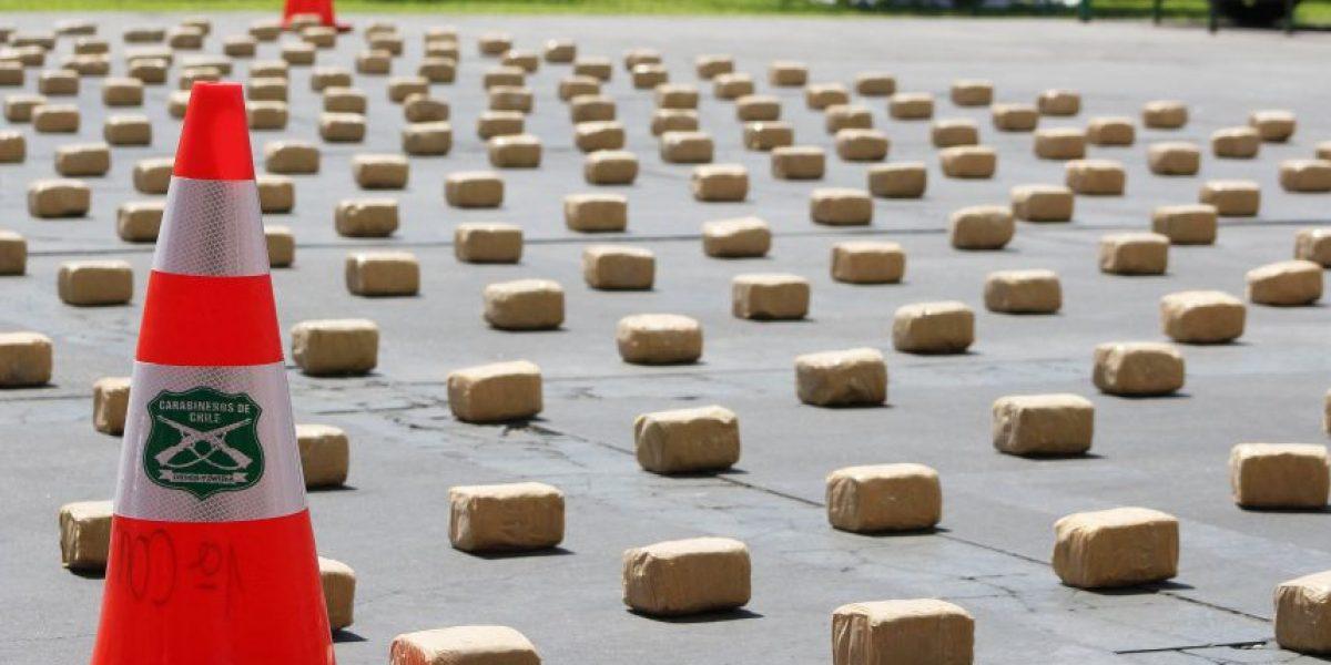 11 mil millones de pesos en droga incautó Carabineros durante 2015 en la RM