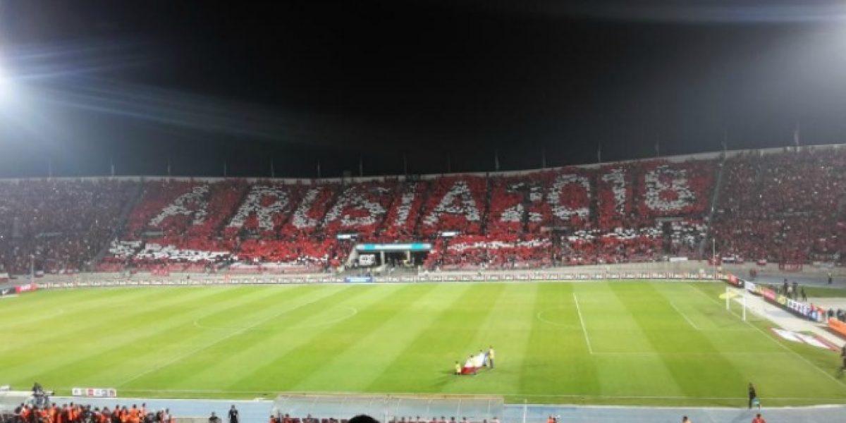 A la perfección: El mosaico ahora resultó y vistió el Estadio Nacional