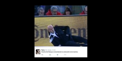 Juez de línea derriba a Vicente del Bosque, entrenador de España