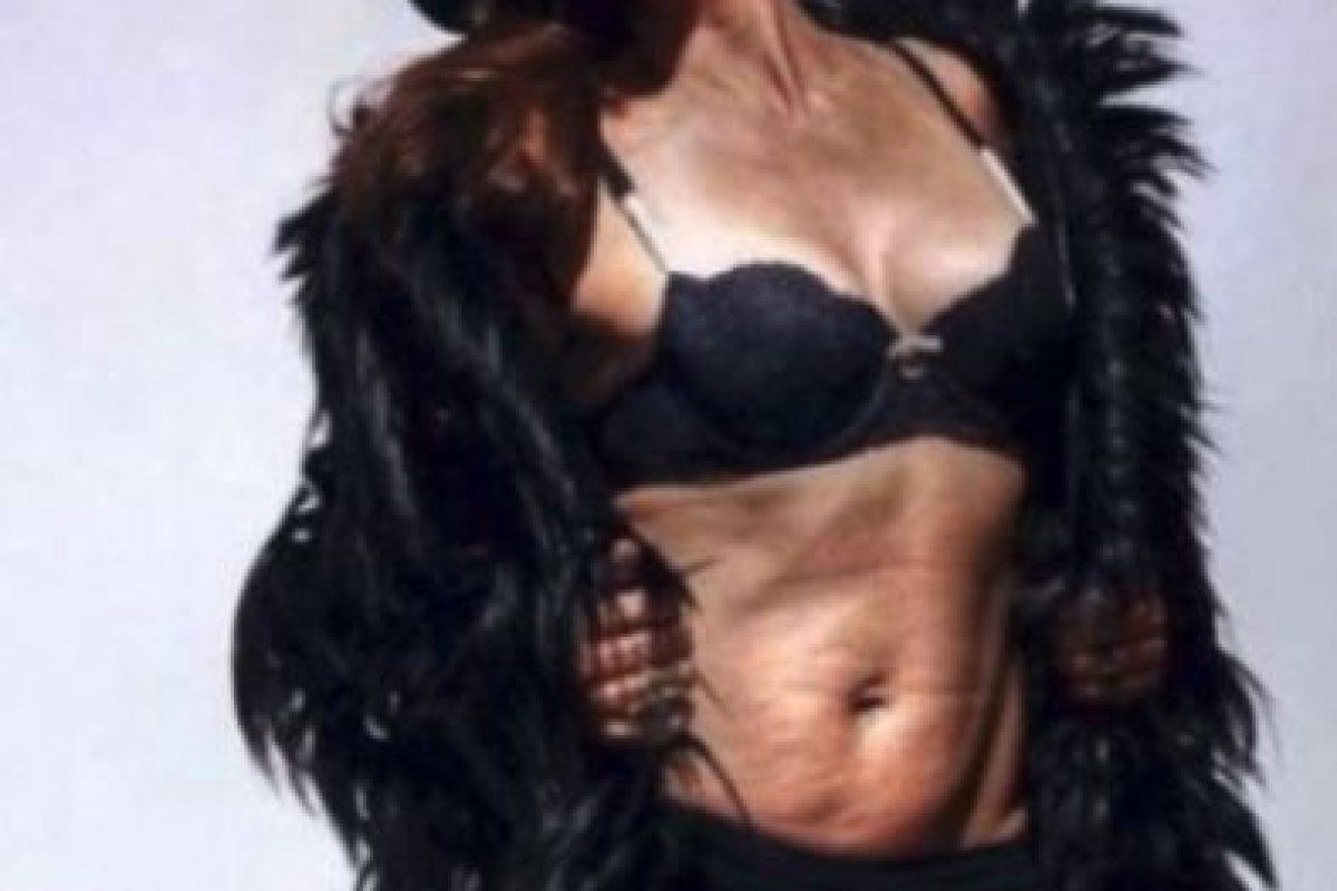 En febrero pasado fue filtrada esta foto que fue parte de una sesión para una revista en 2013. Sin embargo la modelo dijo que la imagen fue retocada Foto:Twiiter. Imagen Por: