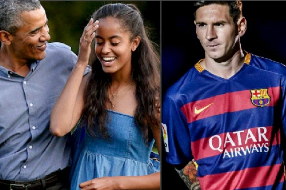 Barack Obama y sus hijas quieren conocer en persona a Lionel Messi Foto:Getty Images. Imagen Por: