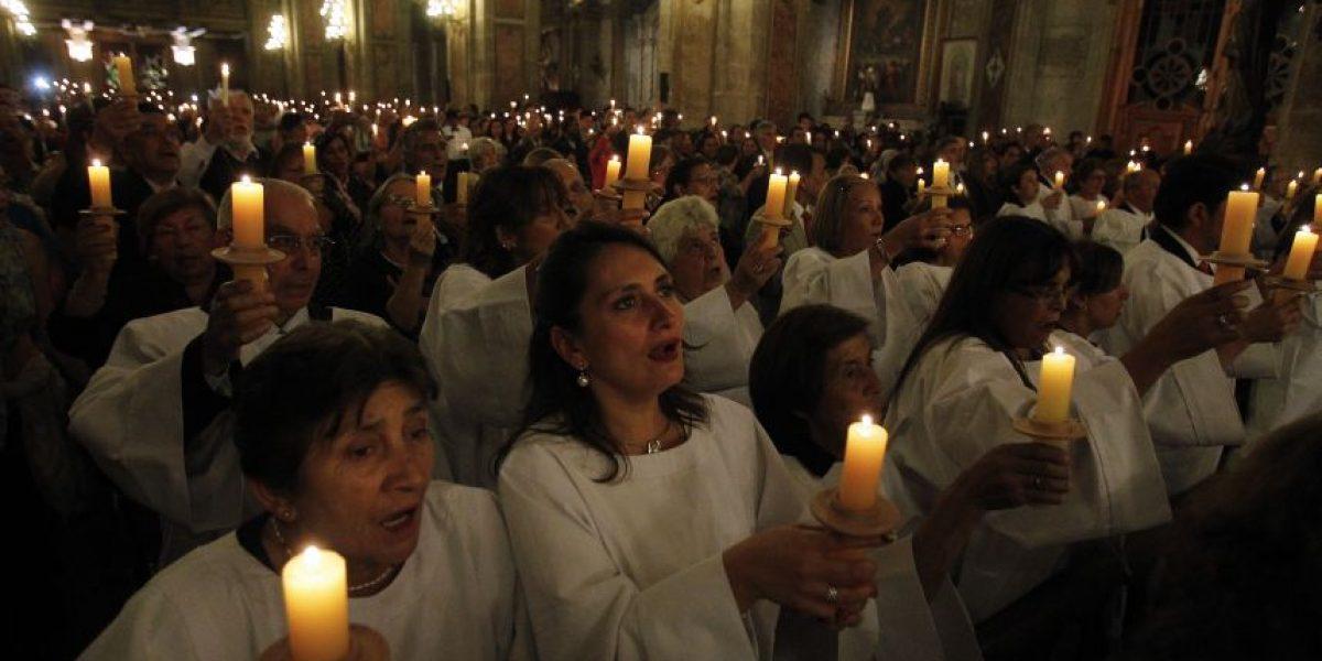 Así se vivió en la Catedral Metropolitana la tradicional vigilia de Pascua