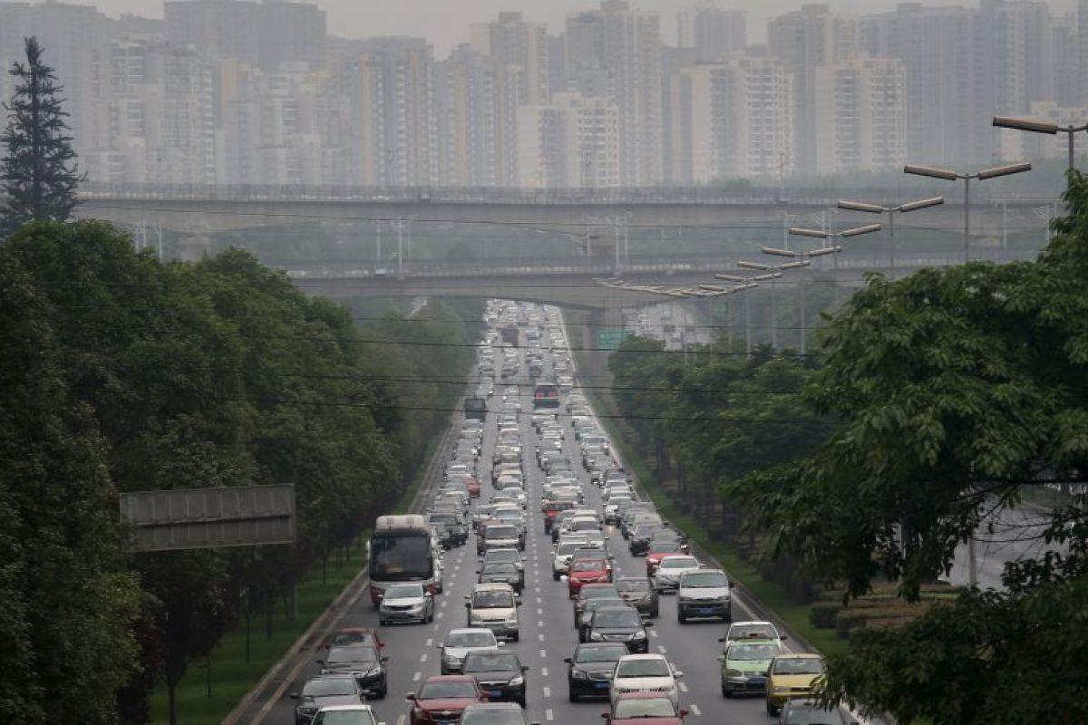 Chengdu, China. El nivel de congestión alcanza un 41 por ciento de tiempo de viaje extra. Foto:Getty Images. Imagen Por: