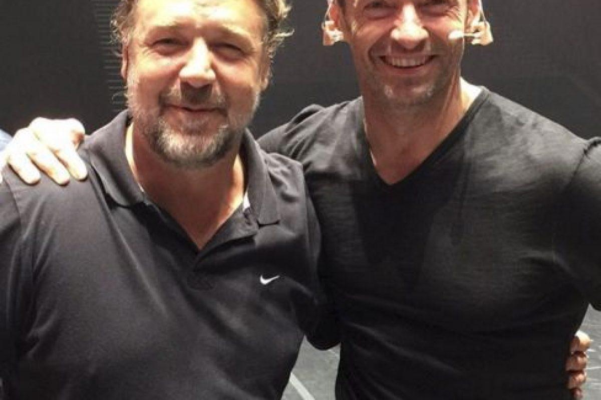 Jackman también cuenta con buenos amigos como Russell Crowe… Foto:vía instagram.com/hughjackman. Imagen Por: