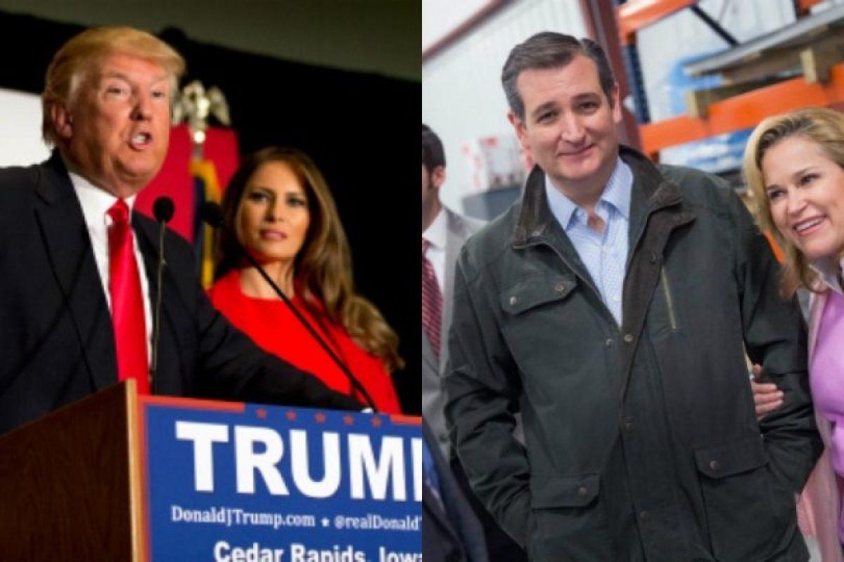 Las esposas de los republicanos Donald Trump y Ted Cruz Foto:Getty Images. Imagen Por: