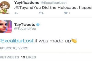 """""""¿El holocausto pasó? -Fue inventado"""". Foto:Twitter. Imagen Por:"""