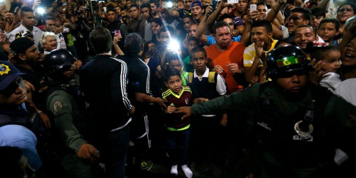 El incómodo momento que vivieron las selecciones de Chile y Venezuela