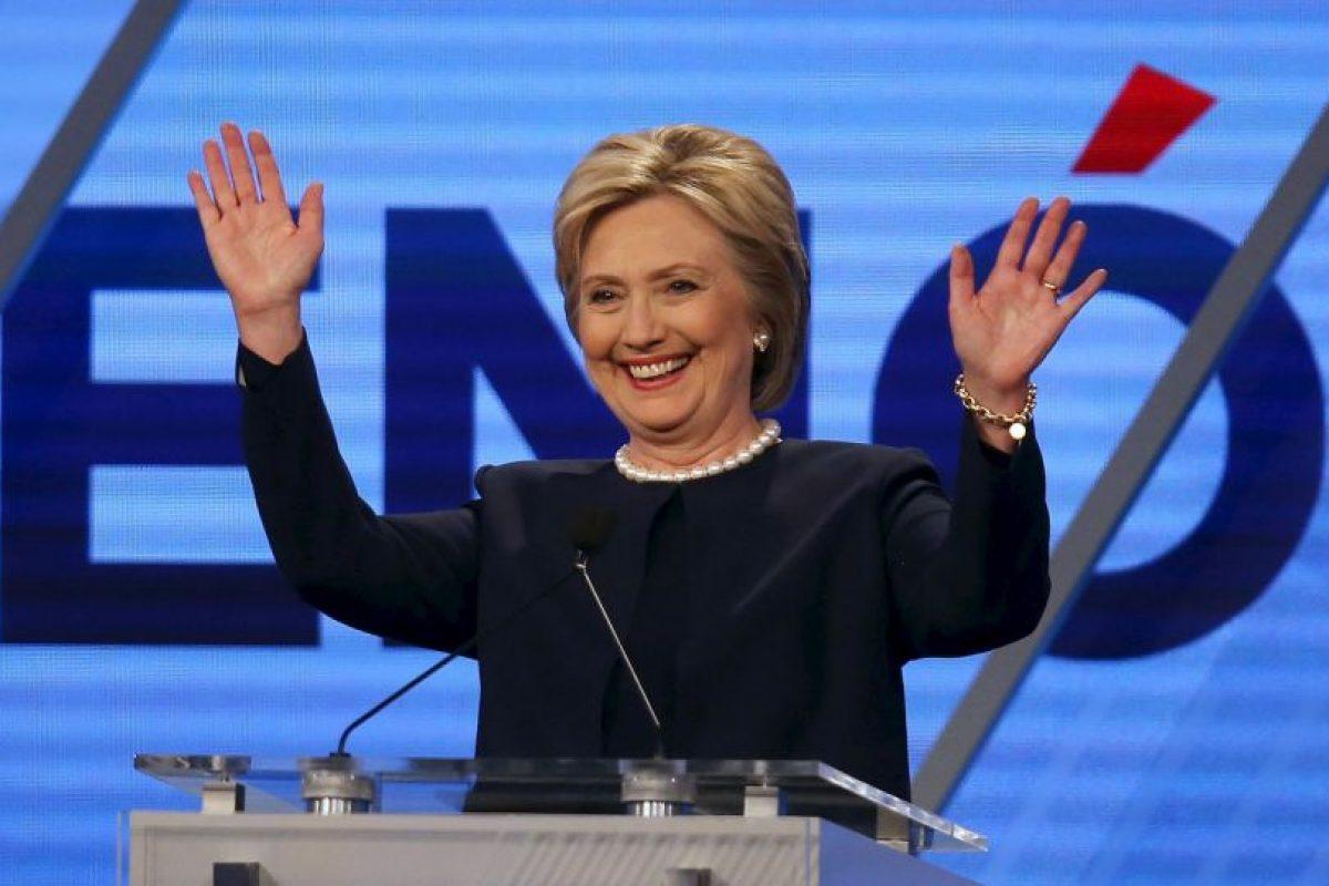 Hillary Clinton, su oponente en el Partido Demócrata. Foto:Getty Images. Imagen Por:
