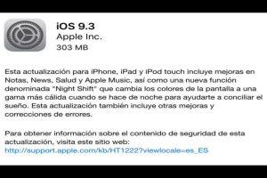 El iOS 9.3 presentó problemas desde las primeras horas. Foto:Apple. Imagen Por:
