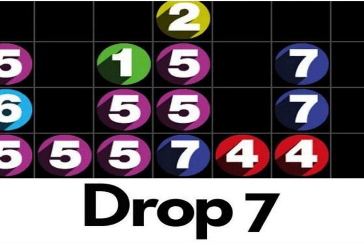 7.- Drop 7. Conforme vayan apareciendo los números en una tabla 7×7, tienen que hacerlos desaparecer haciendo coincidir el número de espacios en horizontal o vertical con el propio número. Foto:Drop 7. Imagen Por:
