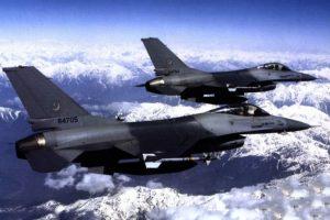 Dos F-16 de la fuerza aérea de Pakistán. Foto:Efe. Imagen Por: