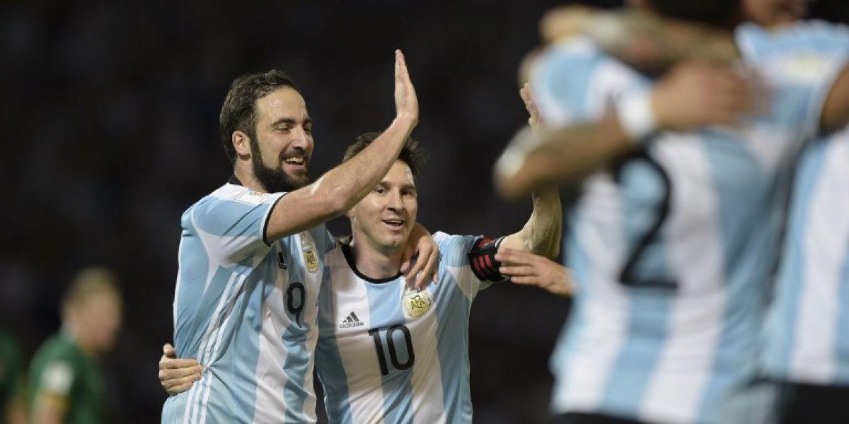 Argentina se dio un festín con Bolivia y escaló a la tercera posición