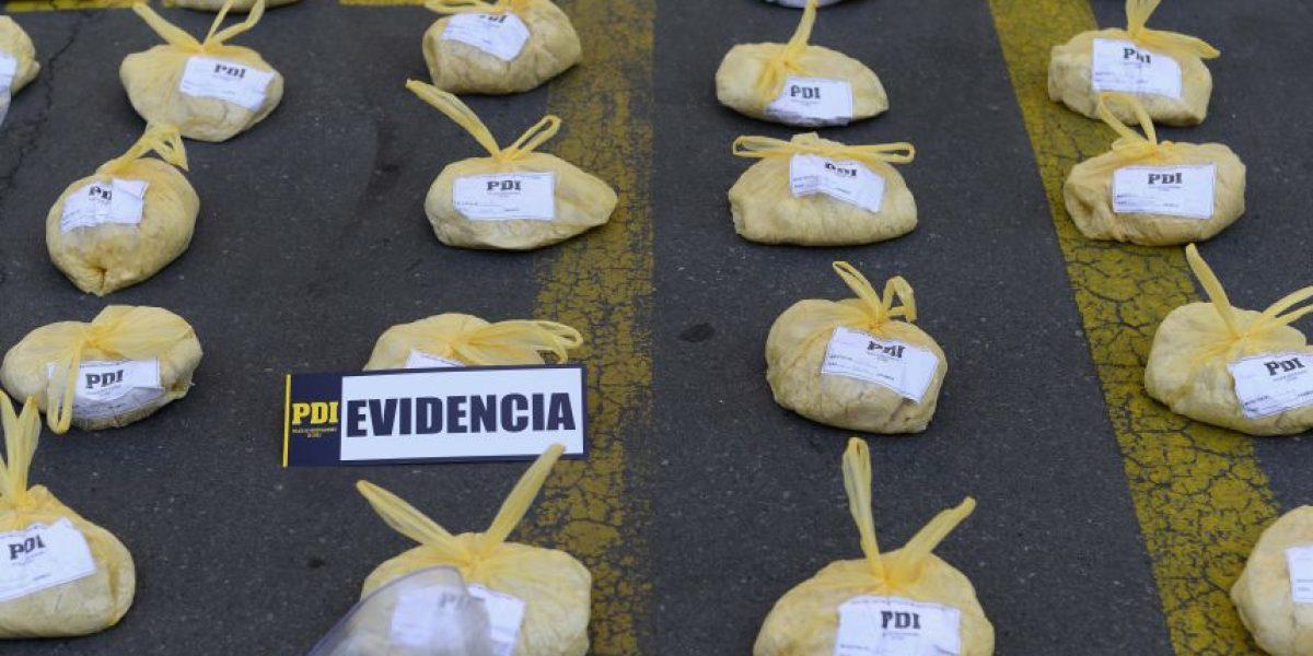 Los Andes: Incautan cargamento de cocaína en camión de verduras