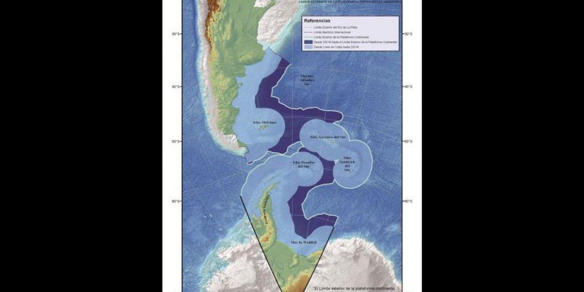 El mapa argentino que proyecta su territorio antártico sobre área chilena