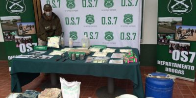 Detienen a chilenos que mantenían en parcela de Melipilla laboratorio clandestino de cocaína