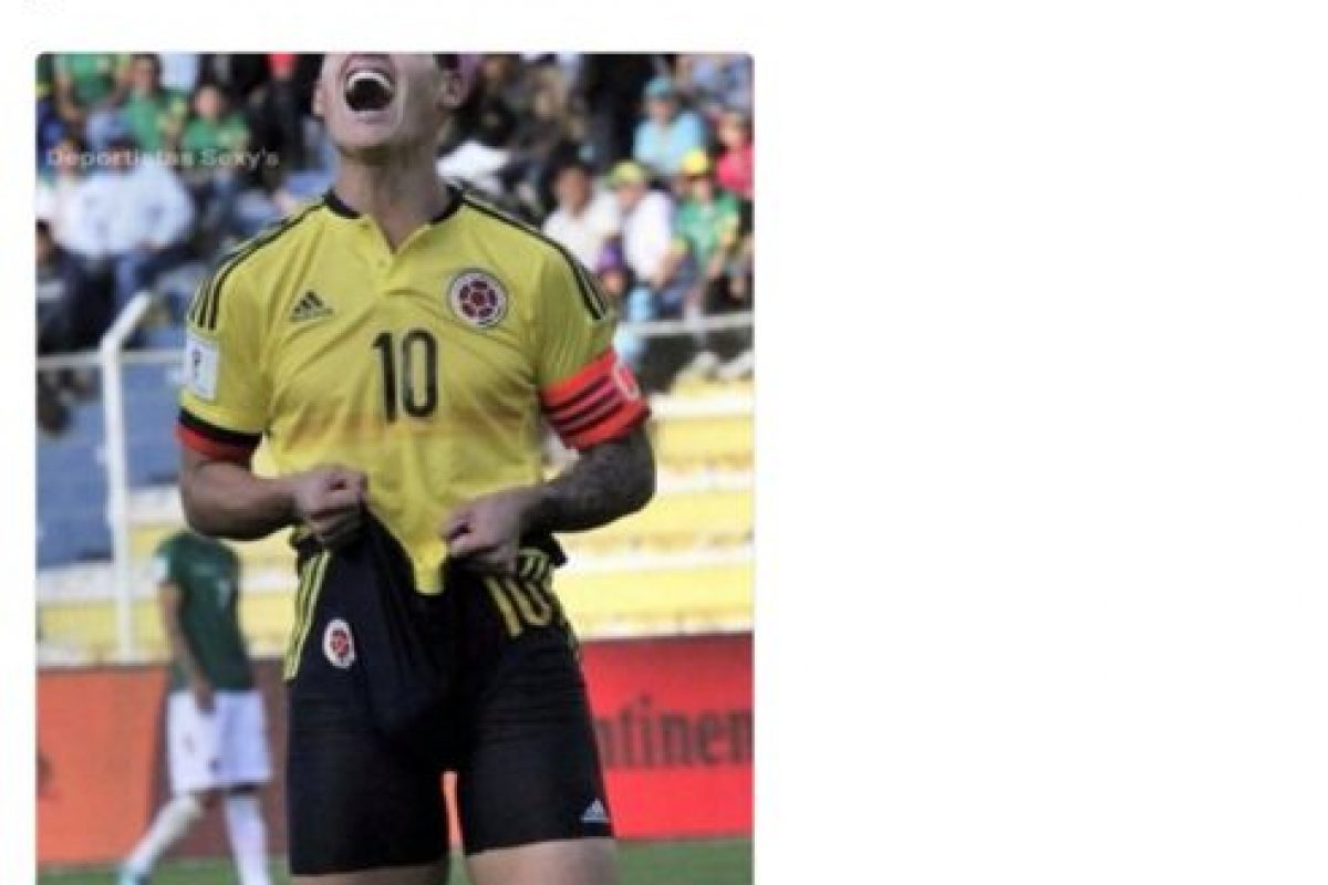 Aunque James Rodríguez dio la nota por sus gestos al perderse varias oportunidades de gol. Foto:Vía twitter.com. Imagen Por: