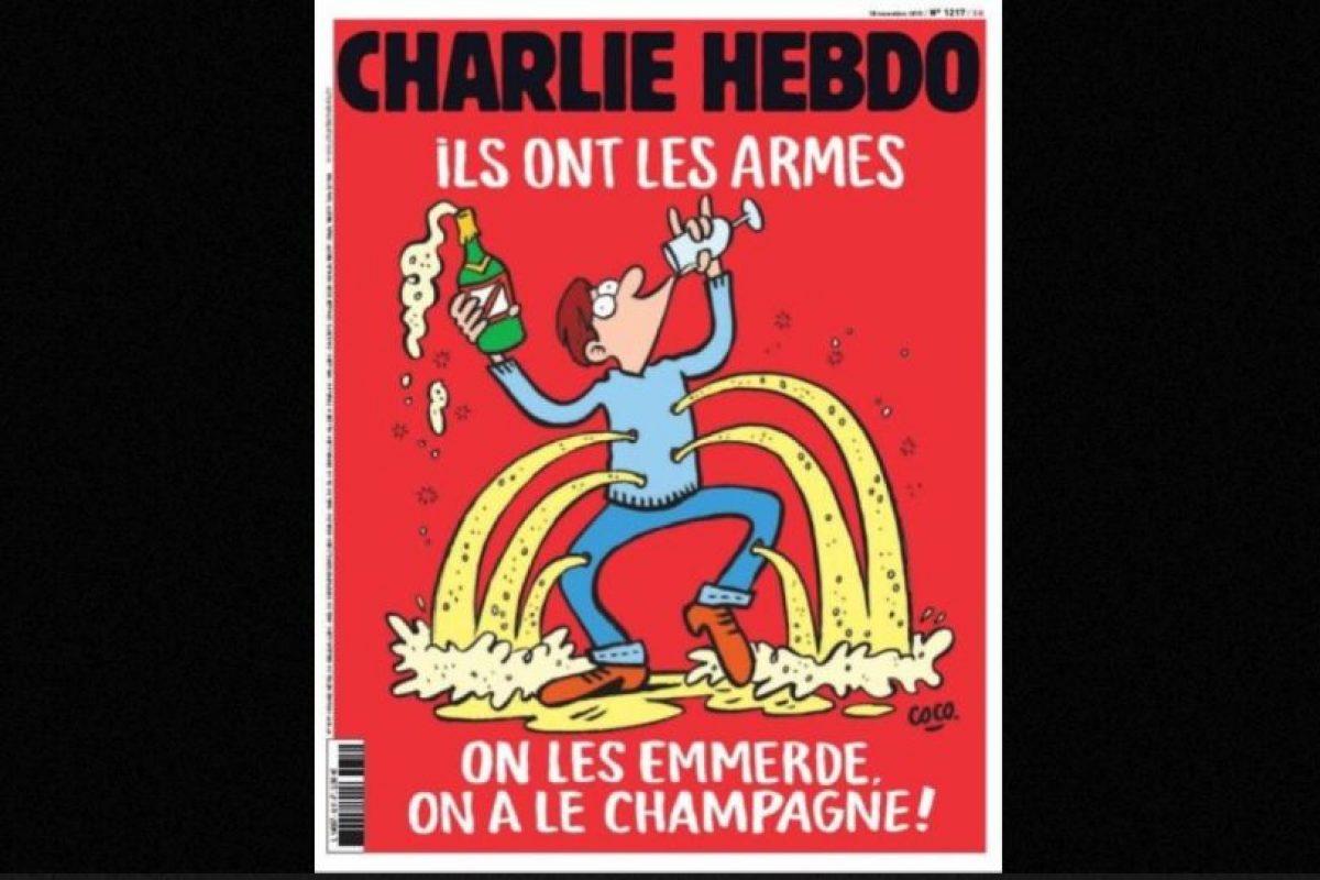 Esta es la portada del semanario tras los atentados en París del viernes 13 de noviembre de 2015 Foto:Charlie Hebdo. Imagen Por: