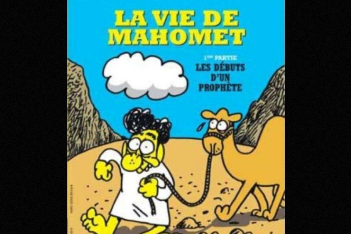 Mahoma es uno de los personajes recurrentes de las portadas del semanario. Foto:Charlie Hebdo. Imagen Por: