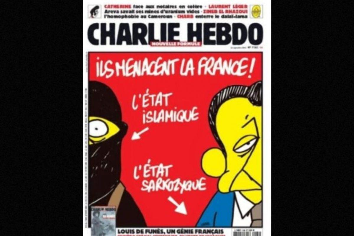 ambién criticaban a gobiernos anteriores, como el de Nicolás Sarkozy. Foto:Charlie Hebdo. Imagen Por: