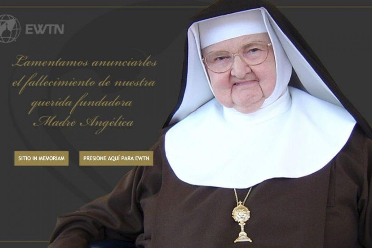 La Madre María Angélica de la Anunciación fundó la Eternal Word Television Network, en 1981. Foto:www.ewtn.com. Imagen Por: