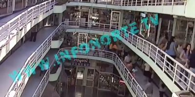 Registran momento en que joven se lanza desde cuarto piso en centro comercial en Antofagasta