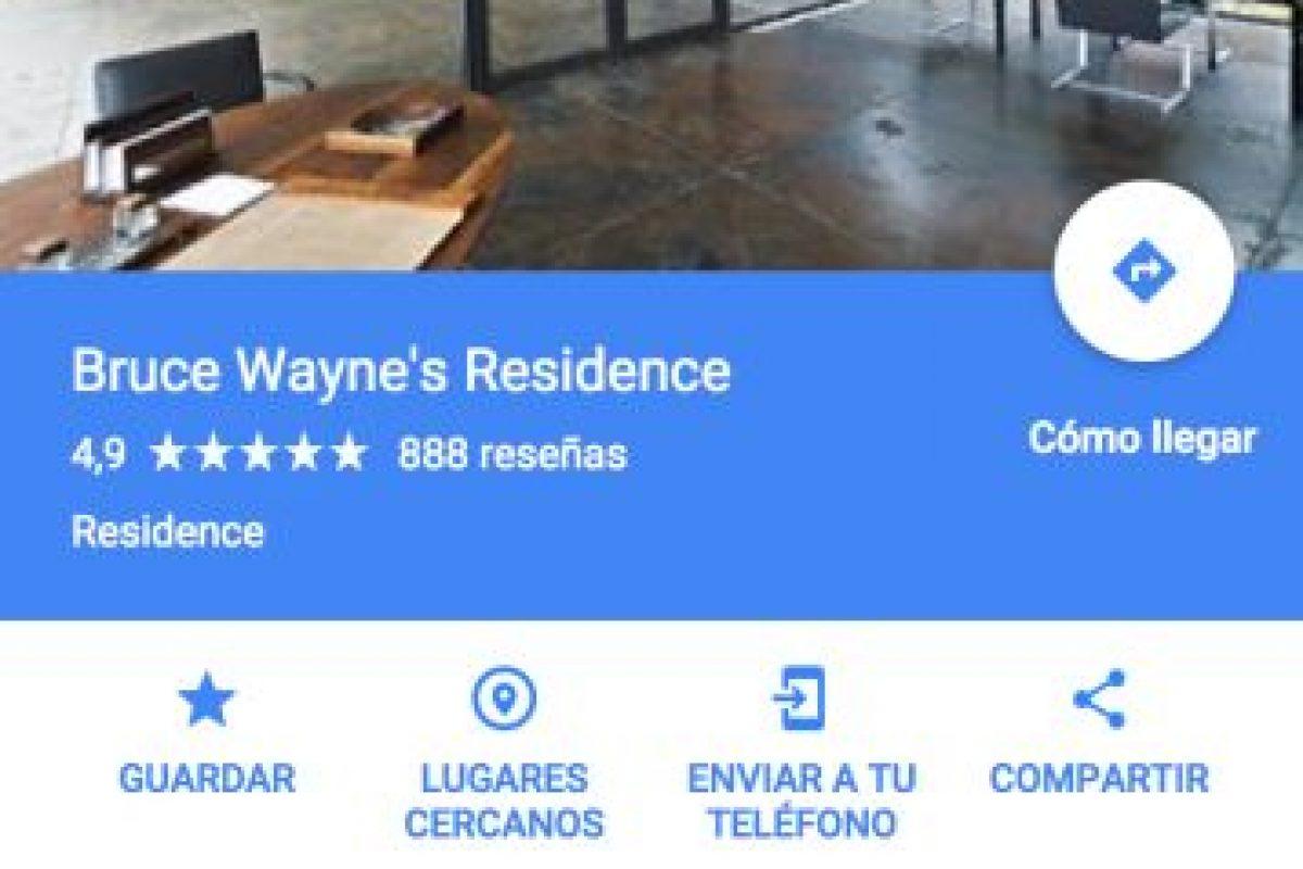 Ahora podrán dar un paseo por la casa del multimillonario superhéroe. Foto:Google Maps. Imagen Por: