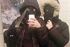 3. Robaremos y será genial: estas dos chicas suecas se tomaron este selfie antes de asaltar un local de hamburguesas del que robaron 400 dólares. Fueron arrestadas. Foto:Twitter. Imagen Por: