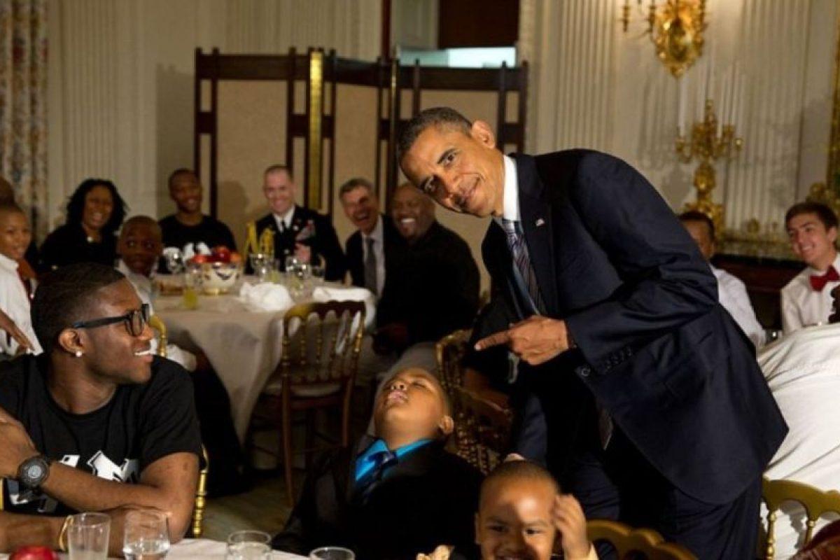 Los pequeños deben tener cuidado de no quedarse dormidos o pueden ser la burla del Presidente Foto: Vía whitehouse.gov/photos. Imagen Por: