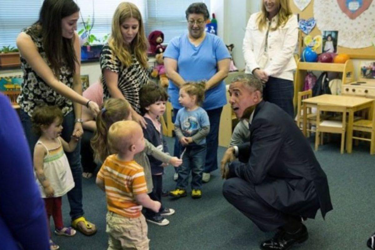 Una visita al preescolar puede resultar muy divertida. Foto:Vía whitehouse.gov/photos. Imagen Por: