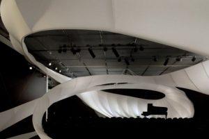 Interior de la sala de conciertos del Museo de Arte de Manchester. Foto:Zaha Hadid Architects. Imagen Por: