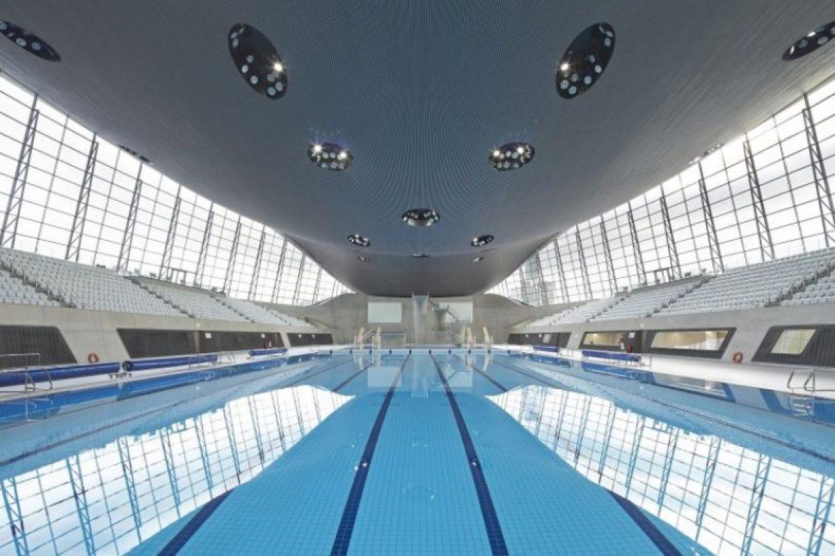 Centro Acuático de Londres 2012. Foto:Zaha Hadid Architects. Imagen Por:
