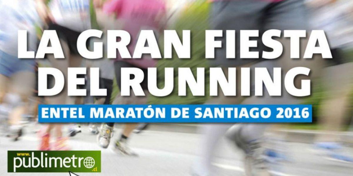 Infografía: la gran fiesta del running, Entel maratón de Santiago 2016
