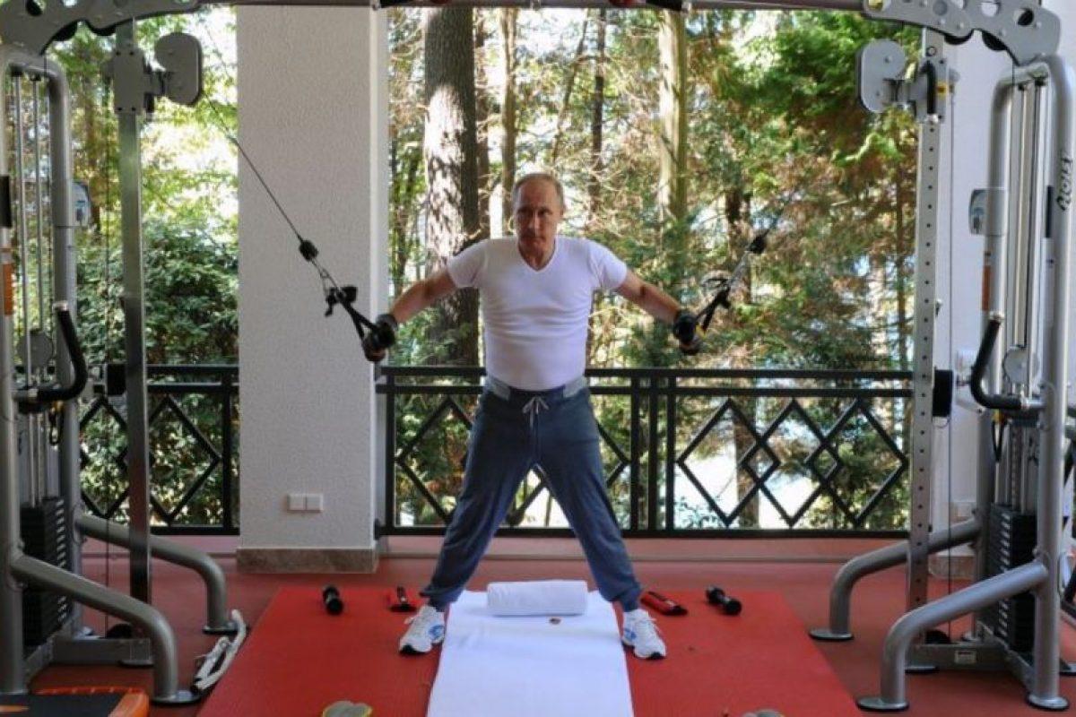Pero cuando quiere ponerse en forma prefiere su gimnasio privado. Foto:AFP. Imagen Por: