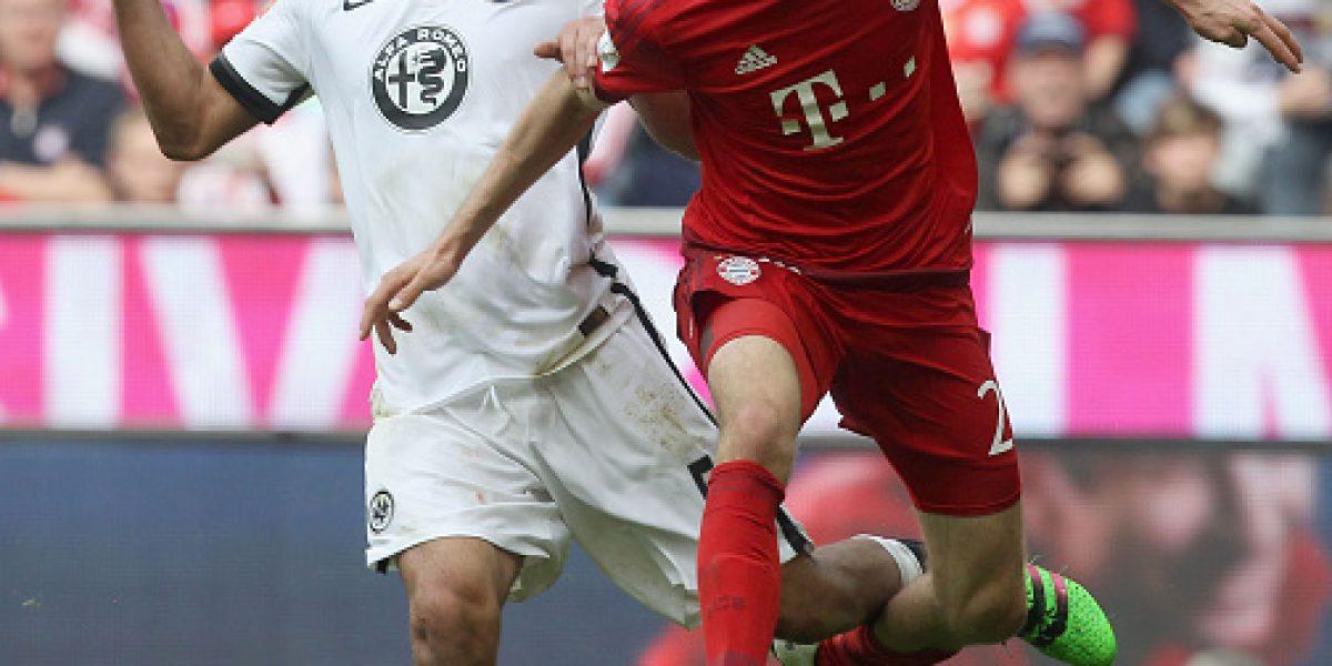 Arturo Vidal ingresó los últimos cinco minutos en el triunfo del Bayern Munich